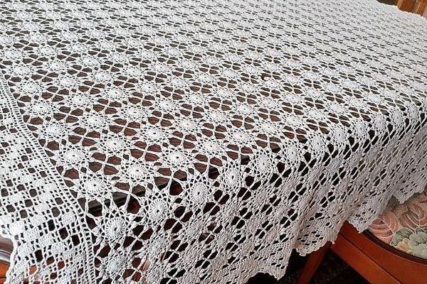 como hacer un mantel a crochet 2