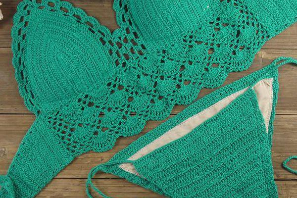 como hacer un traje de bano crochet
