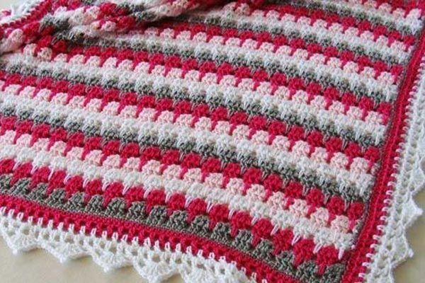 curso manta a crochet