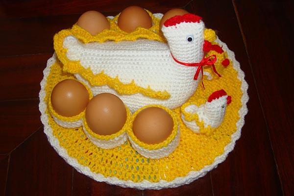gallina porta huevos crochet